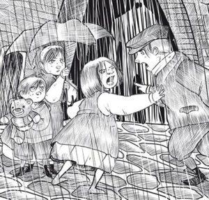 Persi nella Pioggia illustrazione