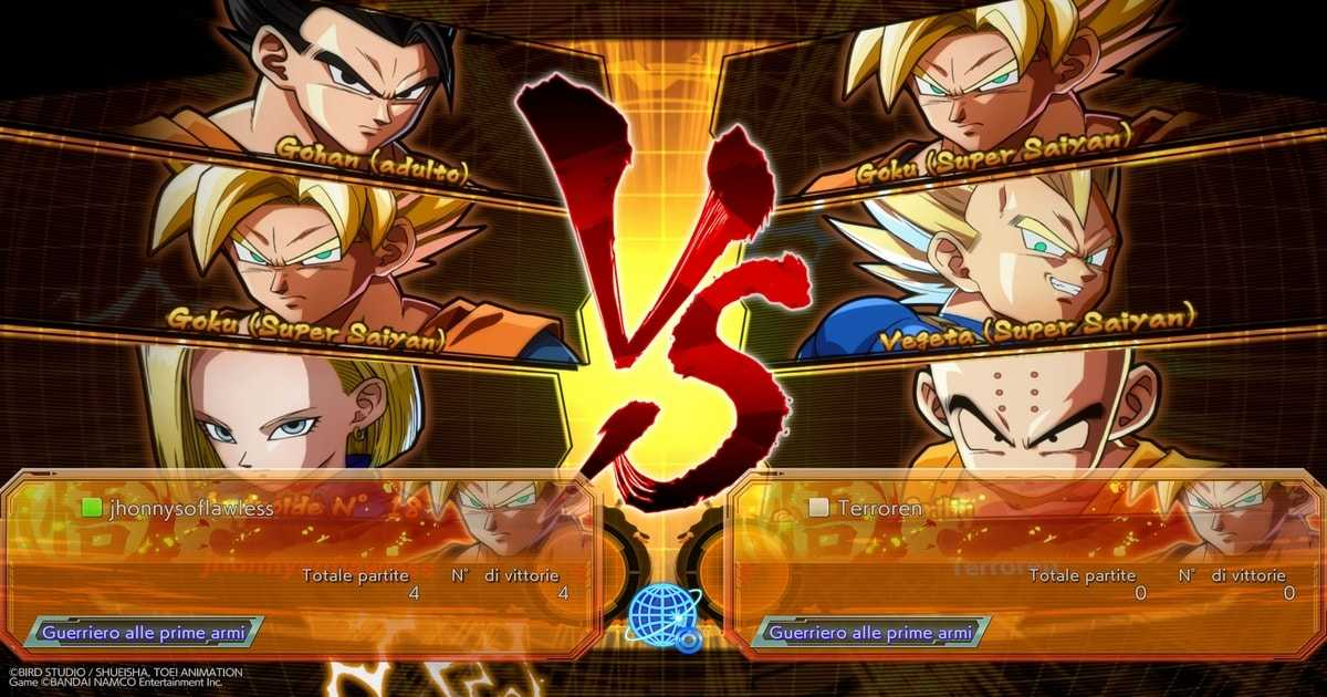 dragon ball fighterz combattimenti