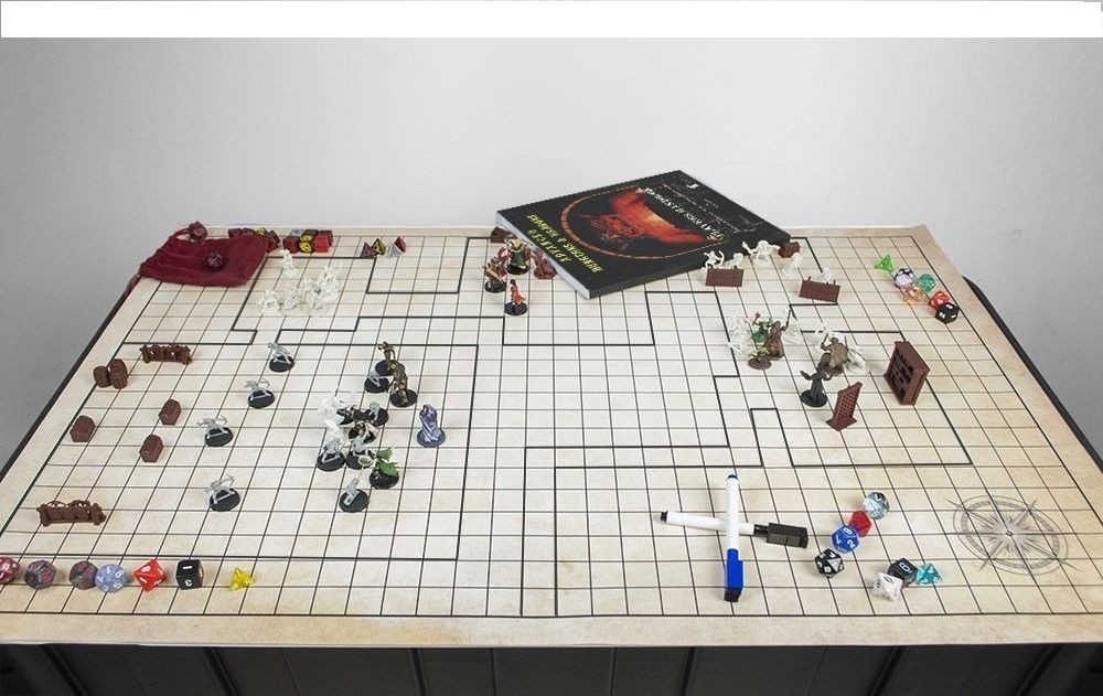 dungeon and dragons battle grid map erase