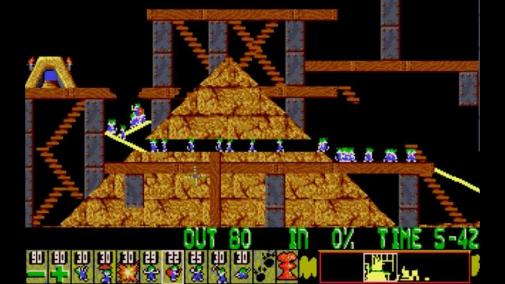 Lemmings level 1