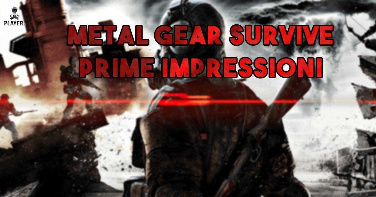 metal gear survive impressioni
