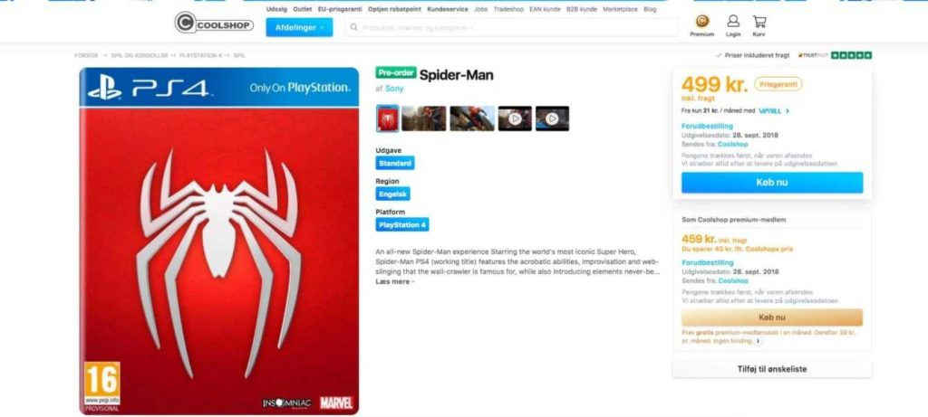 spider-man leak data di uscita