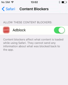 AdBlock su iPhone ed iPad