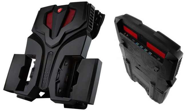 Msi Vr One Backpack espulsione batterie e collegamenti