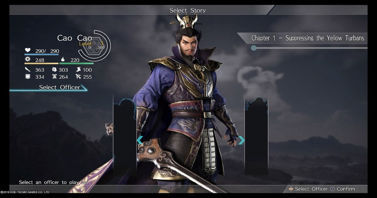 dynasty warriors 9 personaggi