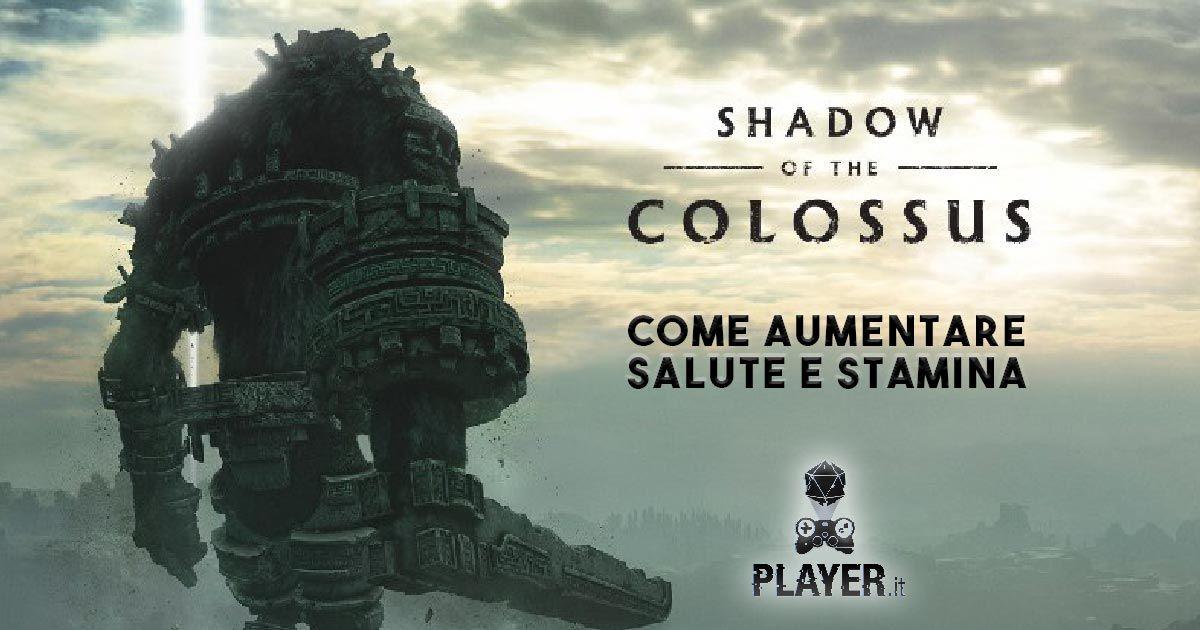 shadow of the colossus guida salute e stamina