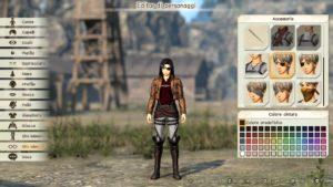 Attack on Titan 2 - Creazione Personaggio
