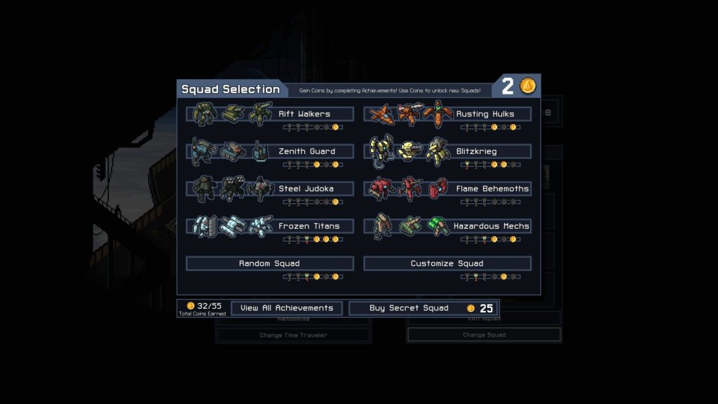 Into The Breach - Squadre