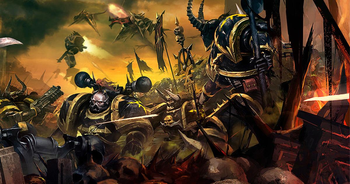 Space Marine della Legione Nera in battaglia