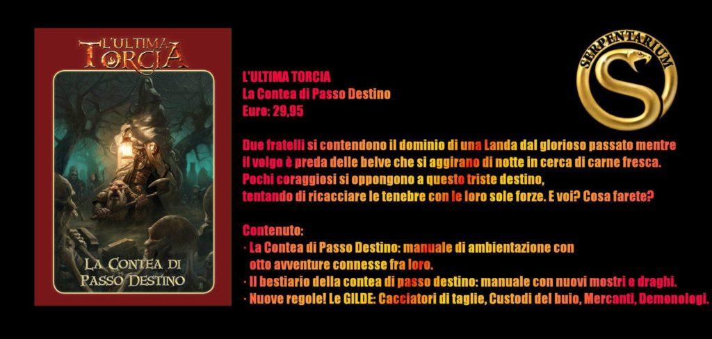 Play Modena 2018 L'Ultima Torcia - Scheda riassuntiva Contea di Passo Destino
