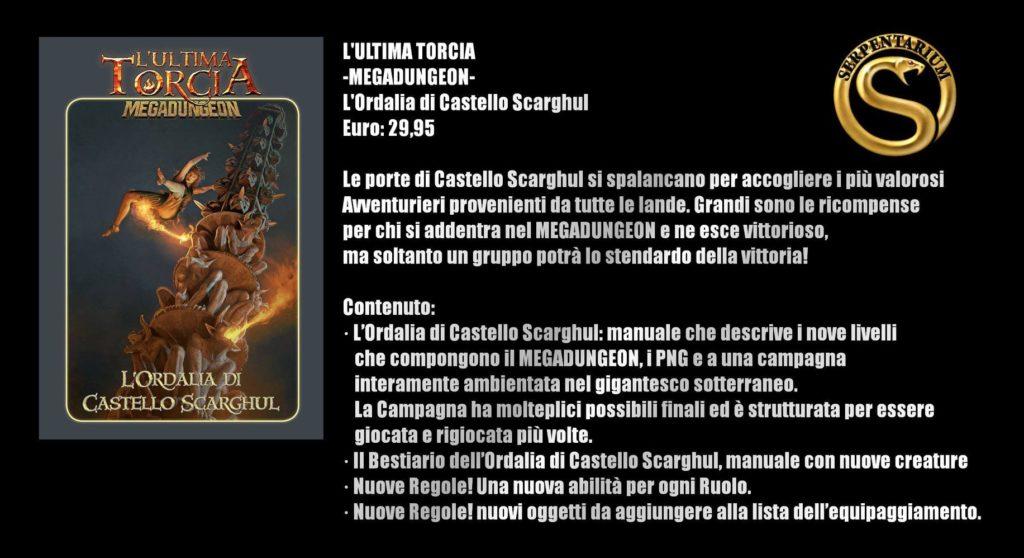 Play Modena 2018 L'Ultima Torcia - Scheda riassuntiva Megadungeon L'Ordalia del Castello di Scarghul