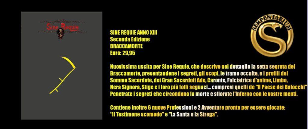 Play Modena 2018 Sine Requie - Scheda riassuntiva Braccamorte