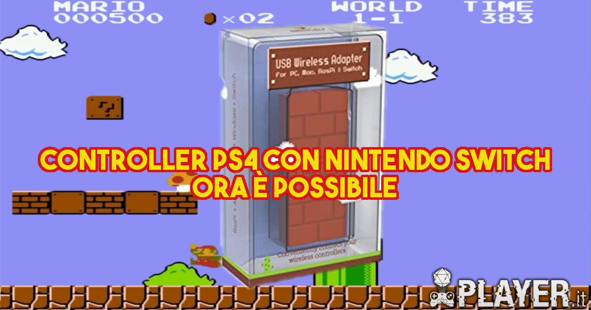 Controller PS4 con Nintendo Switch, ora è possibile grazie ad un adattatore
