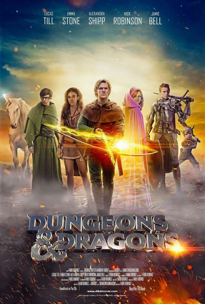 dungeons and dragons movie fake poster