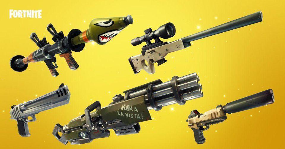 Fortnite Stagione 4 armi modifiche