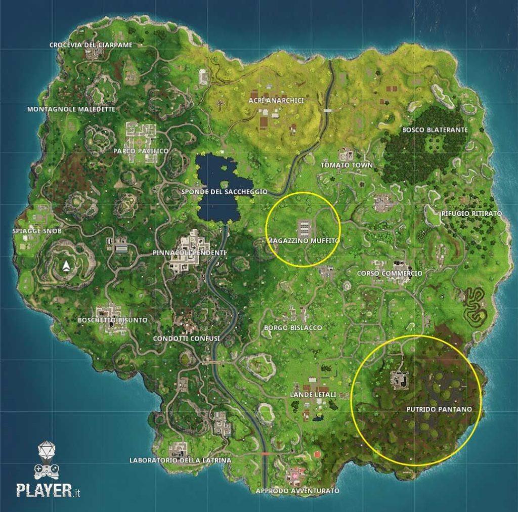 Fortnite Stagione 4 mappa cambiamenti