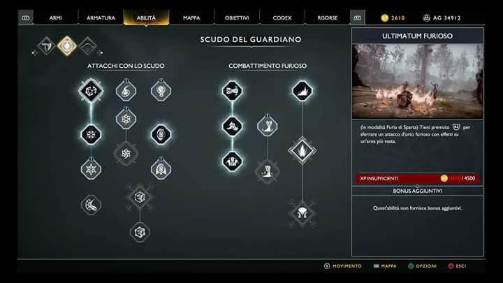 god of war ps4 abilità scudo