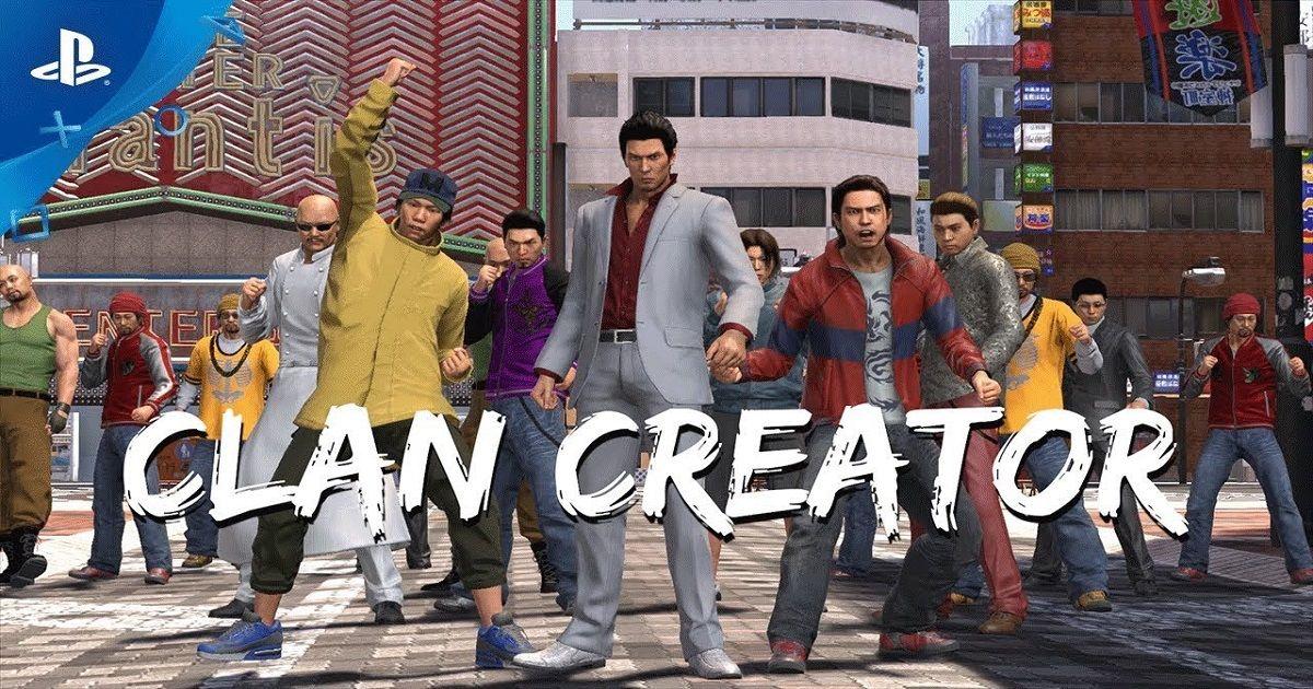 yakuza 6 lista codici clan creator