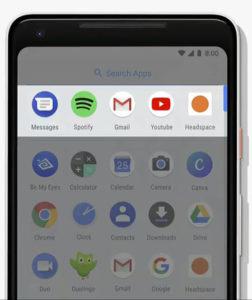 Google I/O 2018, Android P, Applicazioni Consigliate Android