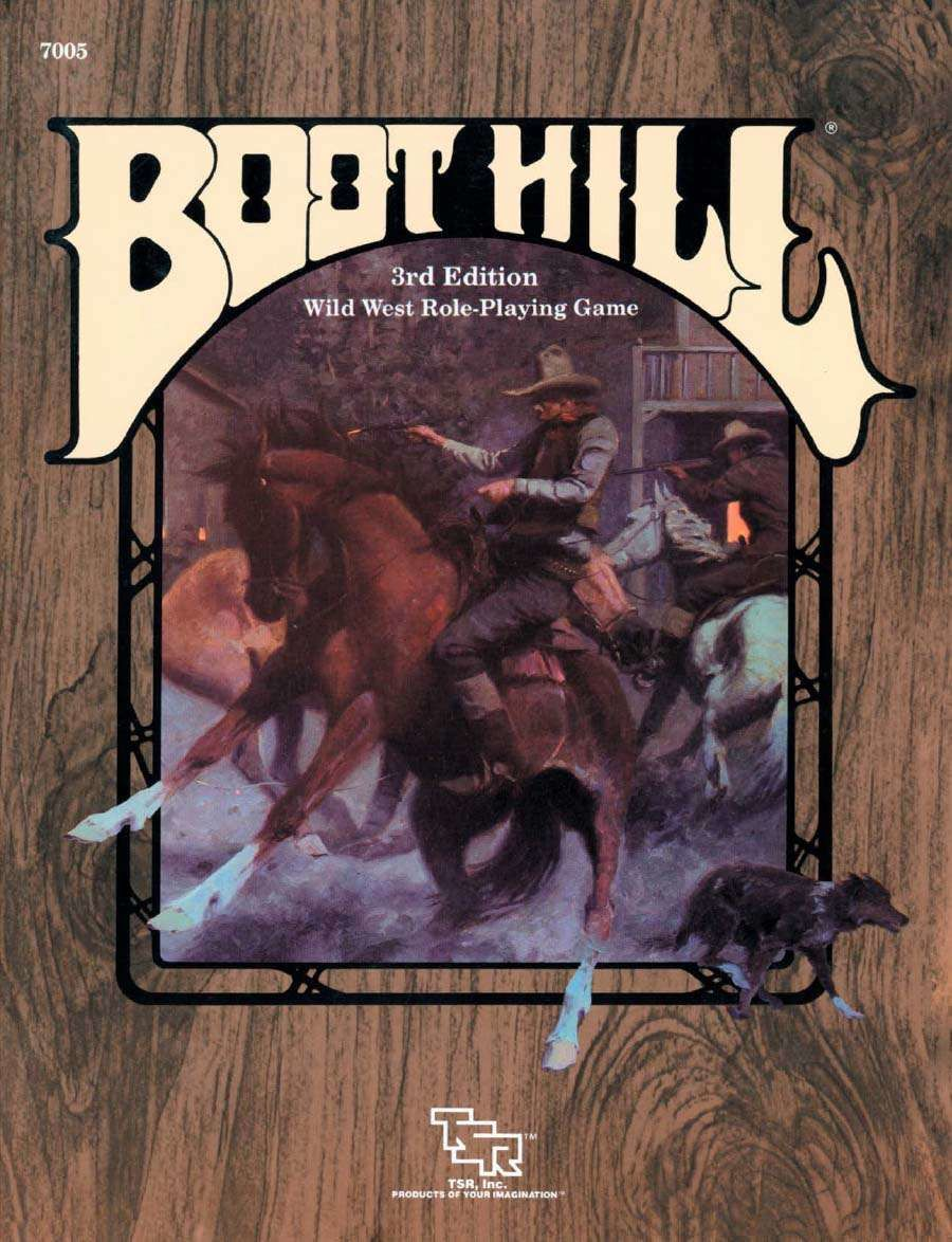 Boot Hill Wild West Role Playing Game 3rd Edition