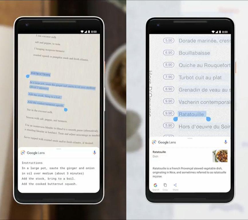 Google I/O 2018, Google Lens Smart Text Selection