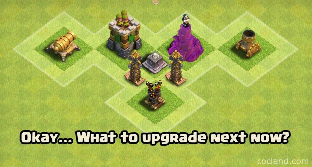clash of clans upgrade ordine sviluppo