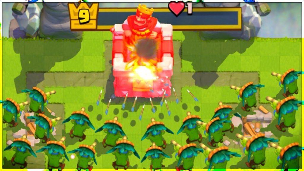 straegia sciame di goblin clash royale