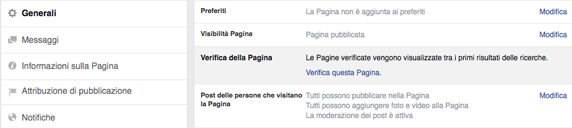 come verificare una pagina facebook