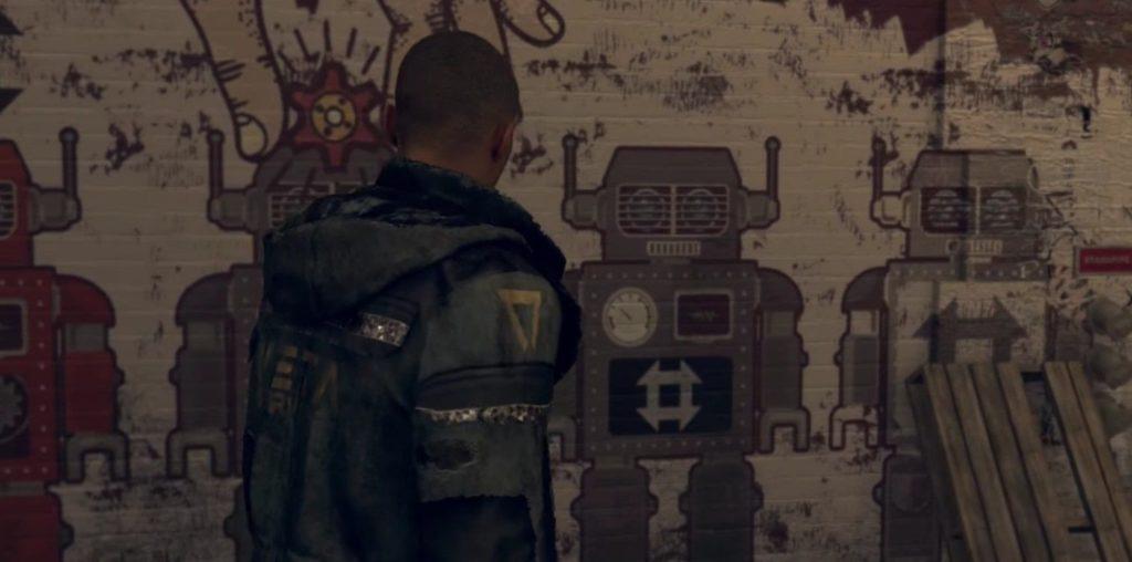 detroit<: become human guida graffiti