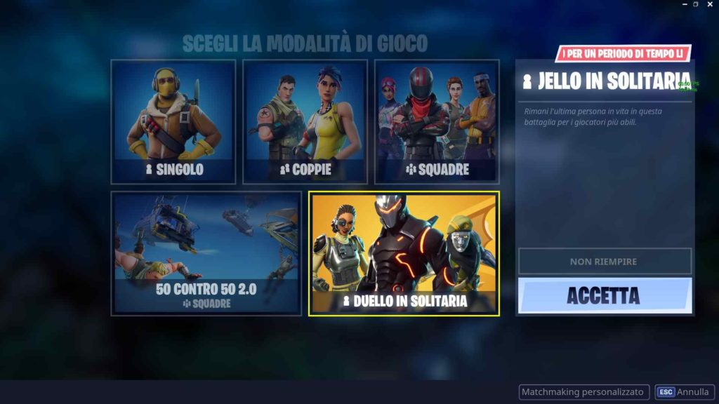 fortnite modalità competitiva ranked duello in solitaria