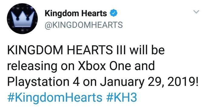 kingdom hearts 3 data di rilascio