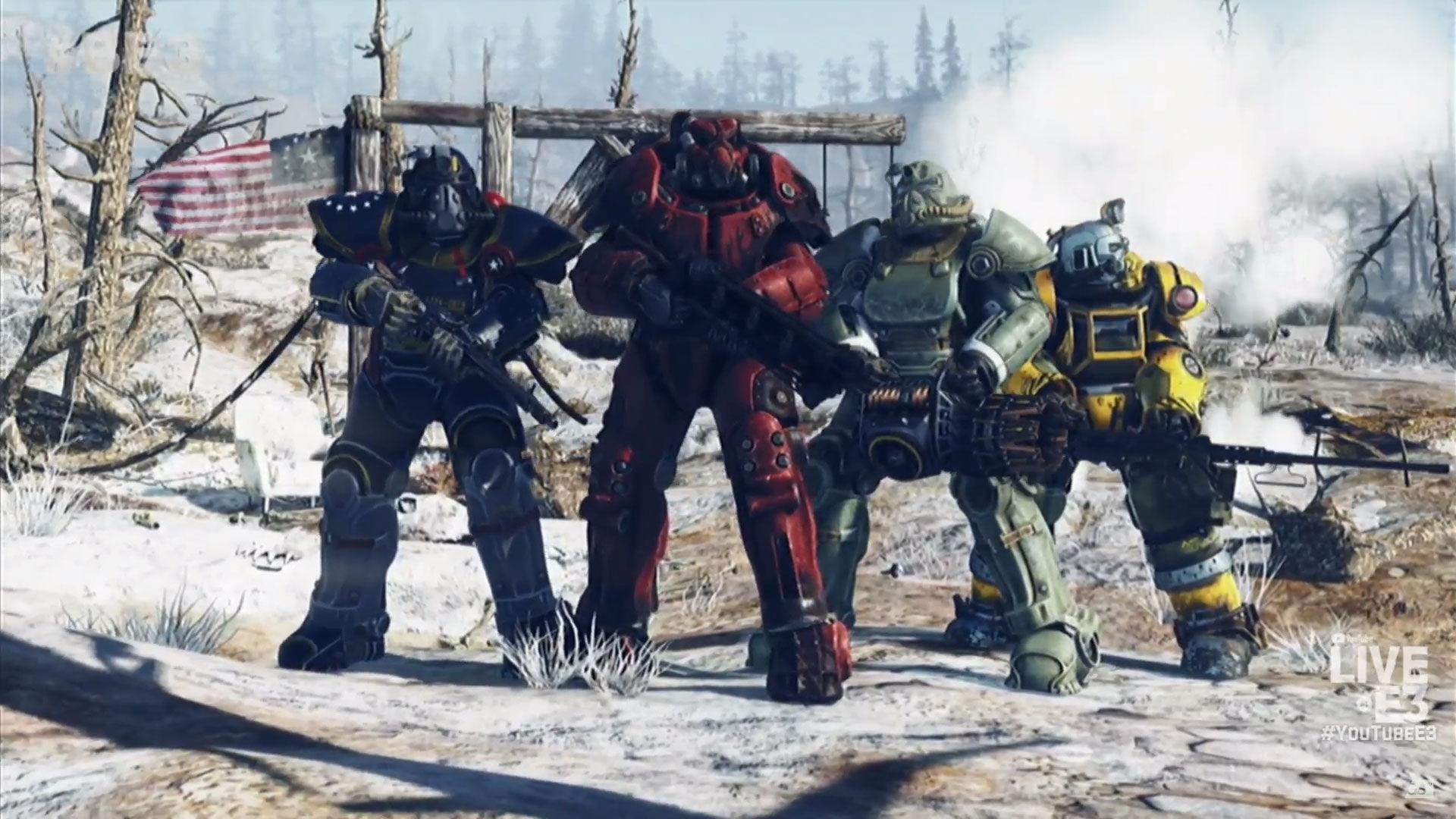 E3 2018 Bethesda Fallout 76 screenshot 4