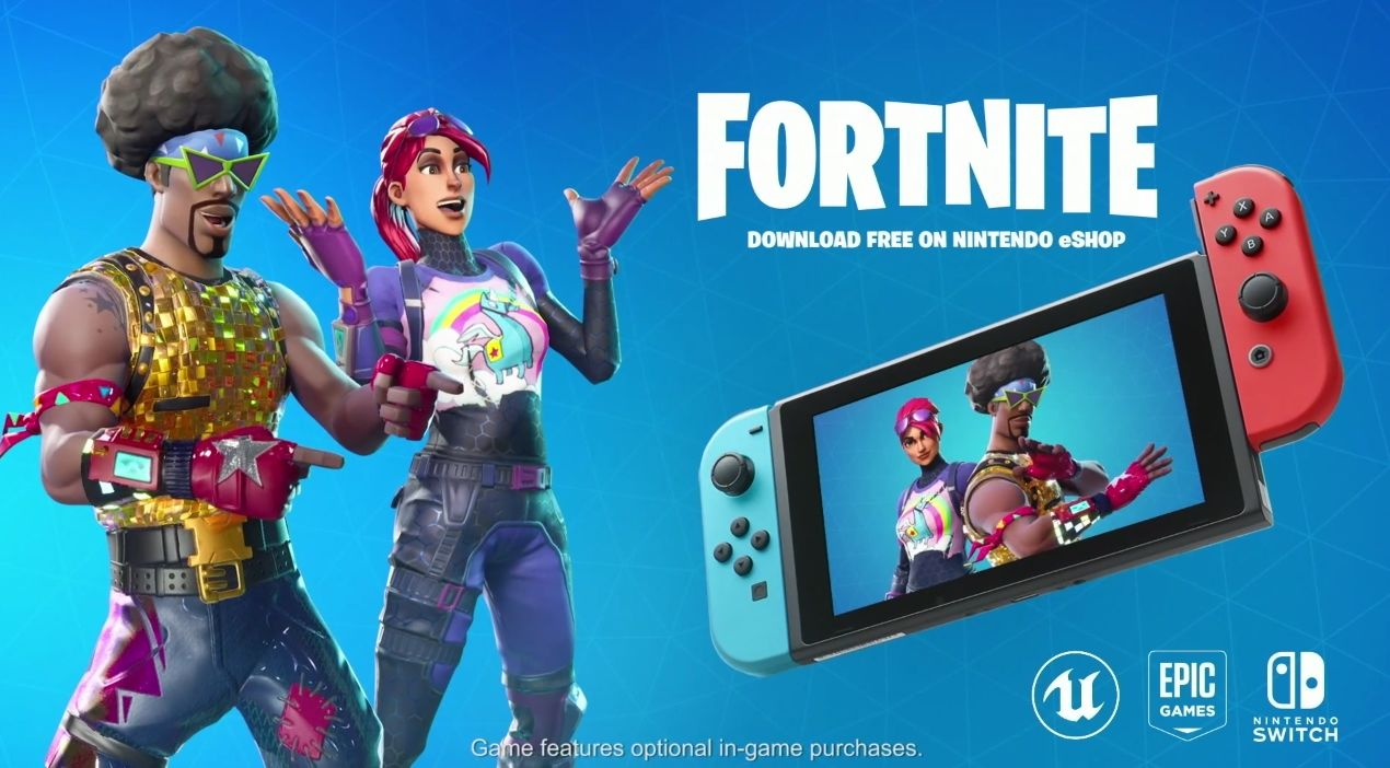 fortnite e3 2018 nintendo switch