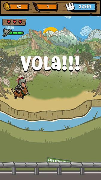 Gioco Vola Vola Sfida Abruzzese, gioco arcade, app arcade