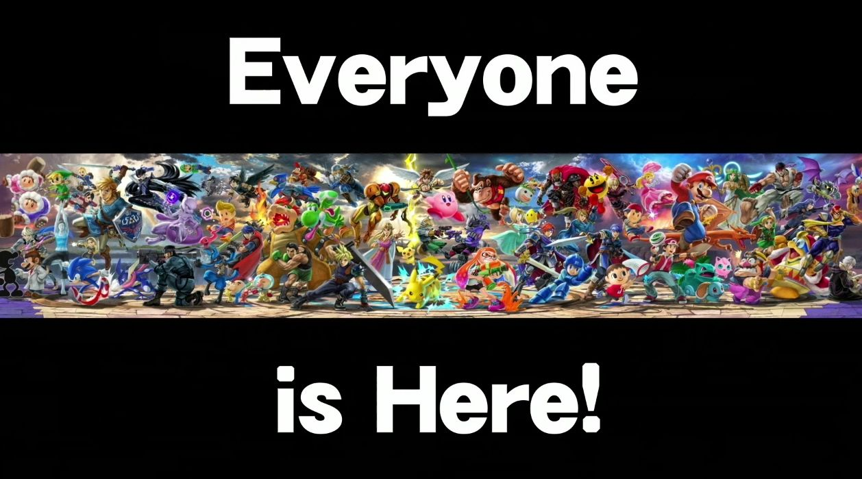 Super smash bros e3 2018 EVERYONE IS HERE