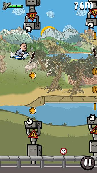 Vola Vola arcade, videogame arcade, app retrogaming, gioco vecchio stile, gioco mobile vecchio stile