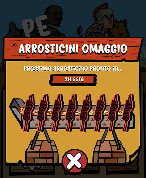 Arrosticini omaggio, arrosticini gratis, arrosticini Vola Vola Sfida Abruzzese