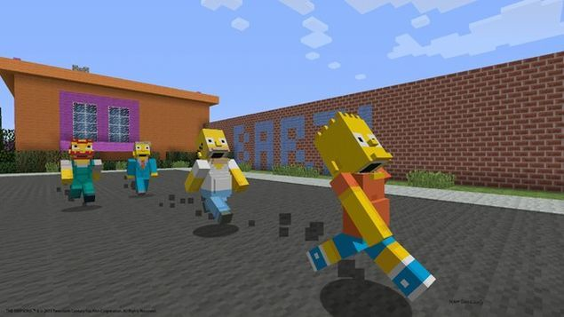 minecraft-data-uscita-simpsons-skin-pack-playstation