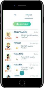 pokemon go lista amici