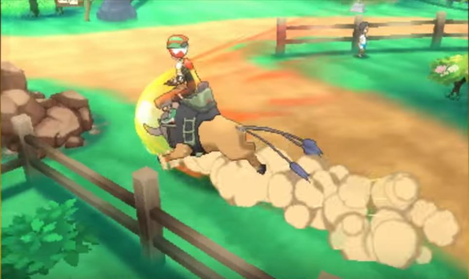 riding tauros pokemon sole