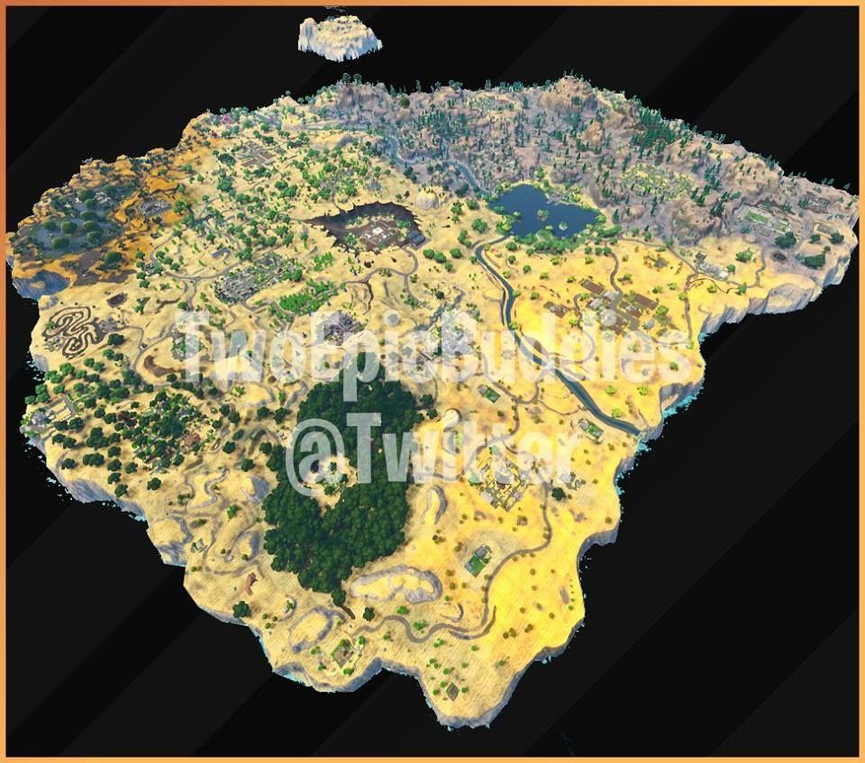 Fortnite stagione 5 leak mappa