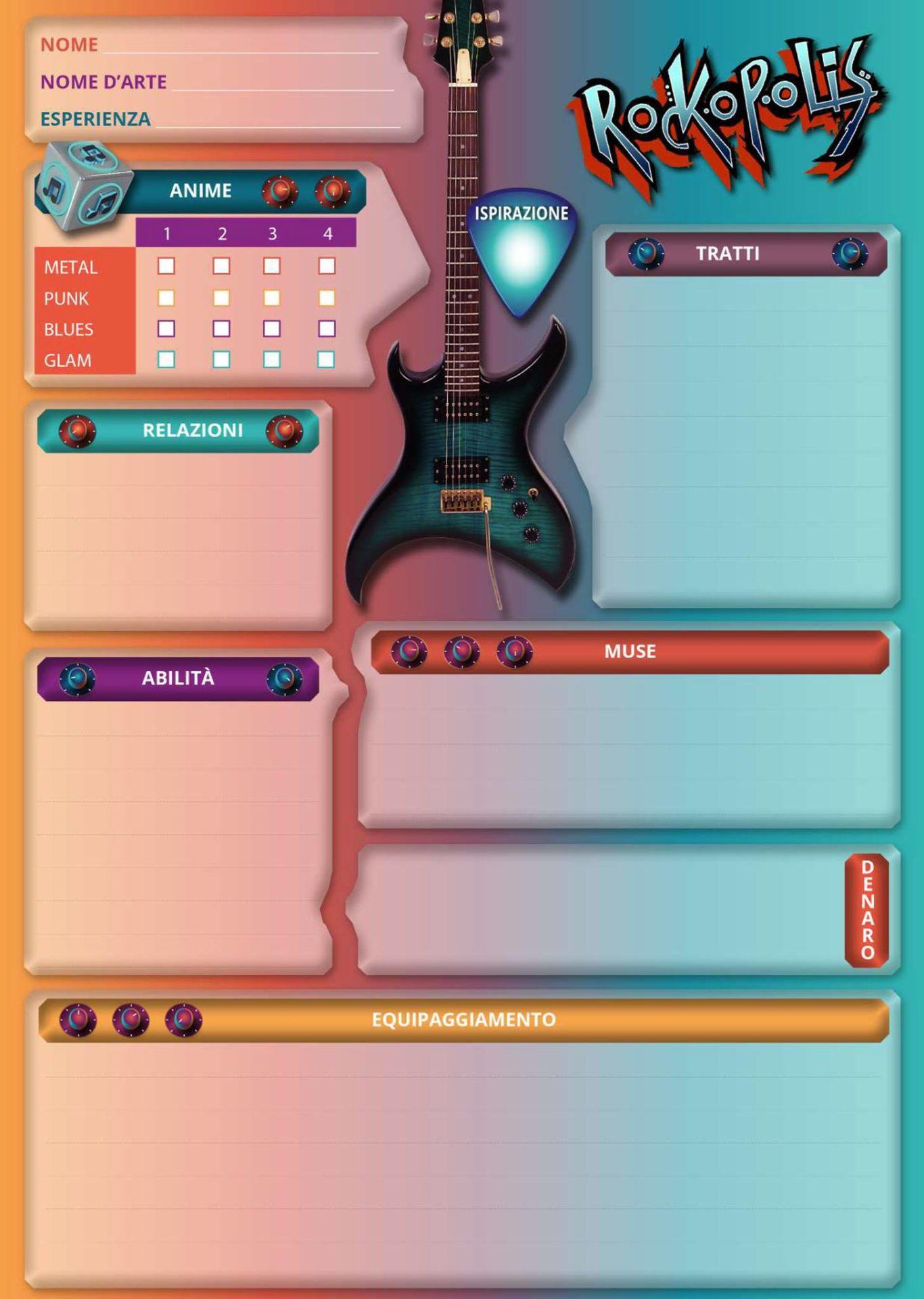 Rockopolis - Minos Games - La Scheda