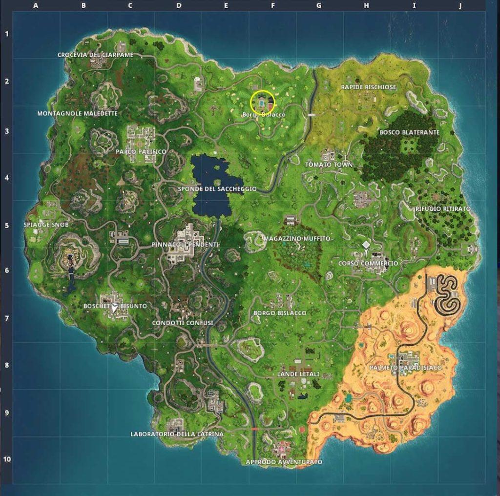 fortnite mappa road trip 2