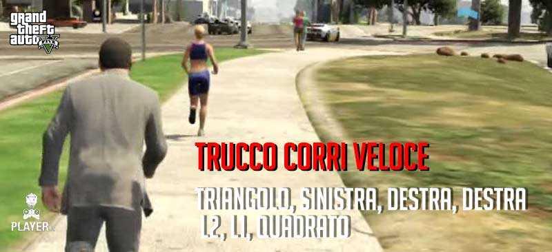 gta 5 trucchi corri veloce