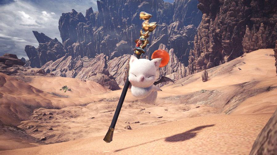 Sete- Felyne - Behemoth - armatura - compagno - guida - caccia - moogle - kupo - MHW - Monster hunter world - FF - Final Fantasy XIV - collaborazione - collaboration