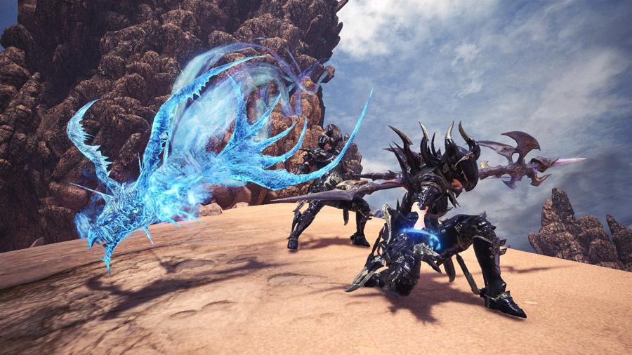 Set Armatura Behemoth - dragoon - drachen - alfa - alpha - FF - final fantasy XIV - ARMOR - Insect Glaive - Falcione - insetto - MHW - Monster hunter world collaborazione - collaboration