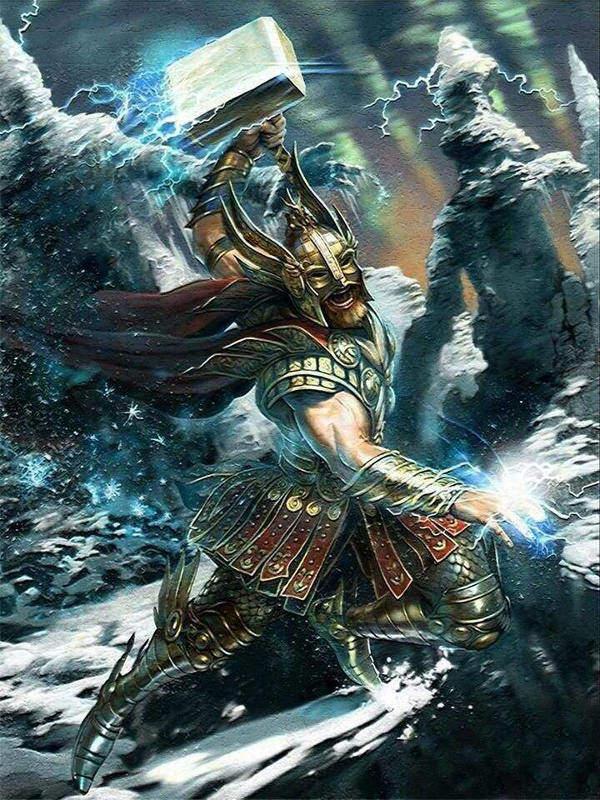 dungeon world rpg gdr thor god hammer martello