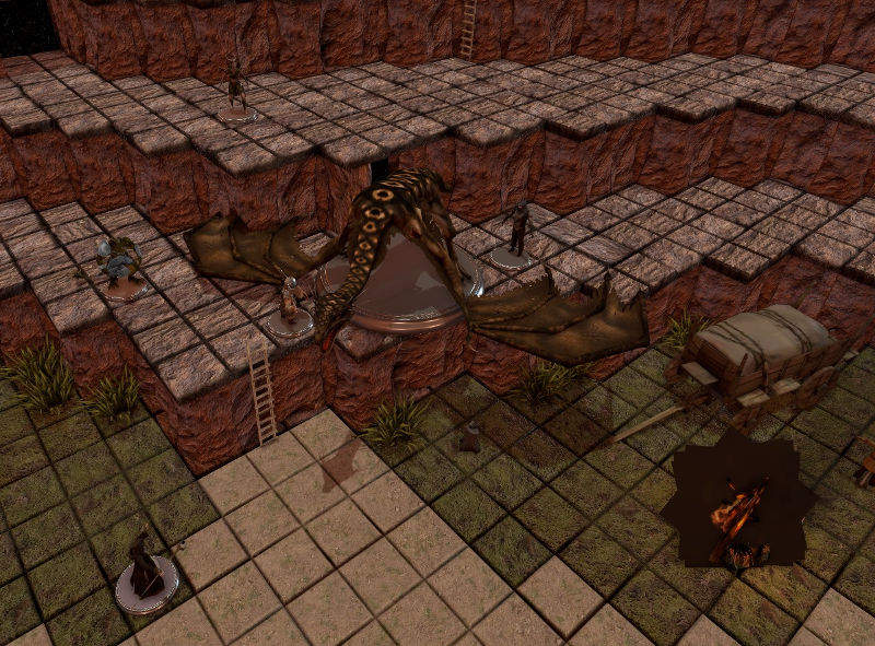 tabletop simulator grid griglia gdr rpg battaglia drago viverna scontro fantasy videogioco D&D