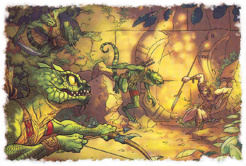 lucertoloidi dungeon D&D Dungeon World pbta combattimenti fantasy