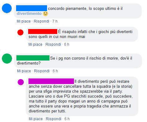Morte nei GdR rpg tpk gestire sconfitta morto pg ucciso fine campagna